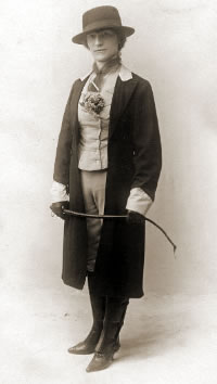 A riding outfit from about 1910.
