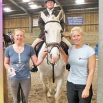 Vicky Rowe with staff at the Barguse Riding Centre in St Austell.