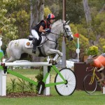 Jessica Manson leads after the cross-country phase of FEI Classics at the Australian International 3 Day Event in Adelaide with Legal Star.