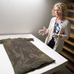 Researcher Marianne Vedeler hopes that, in reconstructing the Iron Age tunic found on a Norwegian glacier, much will be learnt about how the textile was made, how time-consuming it was to make, and how the wool was used, explains . Photo: Yngve Vogt/University of Oslo
