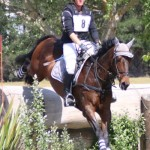 Donna Smith and Tangolooma on the cross-country at McLeans Island at the weekend.