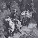 """""""In a Canyon of the Coeur D'Alene"""", by Frederic Remington"""