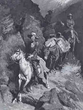 frederic remington in a canyon of the coeur dalene.'