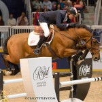 Ian Millar and Star Power on their way to winning the Greenhawk Canadian Show Jumping Championship Title.