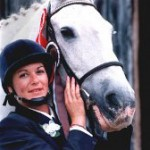 Veteran Horse Society founder Julianne Aston and Minty, aged 40.