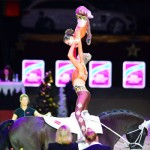 Evelyn Freund and Stefanie Millinger, winners of the FEI World Cup Vaulting third qualifier in their home city of Salzburg, left nothing to chance by training with the world's best acrobats from the Cirque du Soleil, the world's largest theatrical producer.