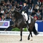 Sweden's Tinne Vilhelmson-Silfven and Don Auriello stepping out in style on their way to victory in the latest Reem Acra World Cup dressage leg in Stockholm on Sunday.