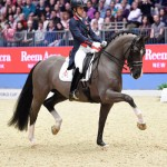 Great Britain's Charlotte Dujardin and Valegro produced a performance close to perfection when winning the fifth leg of the Reem Acra FEI World Cup Dressage 2014/2015 Western European League at Olympia with yet another world-record-breaking score.