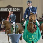 Mine! Scott Brash and Hello Sanctos after their victory in Geneva.