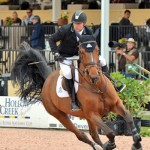 Eric Lamaze races to victory in the $25,000 Ruby et Violette WEF Challenge Cup Round I riding Rosana du Park during opening week of the 2015 Winter Equestrian Festival in Wellington, Florida.