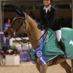 Georgina Bloomberg and Lilli scored the win over 45 starters in the $127,000 Adequan Grand Prix at the 2015 Winter Equestrian Festival on Saturday night.