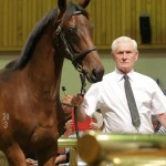 Patrick Hogan with the Zabeel - Organdy colt who is the last by his sire to be sold at public auction.