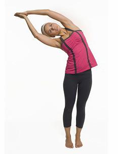 Yoga's half moon side stretch