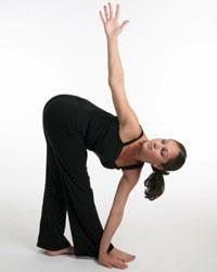 Yoga - Revolved triangle