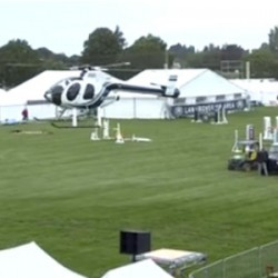 Chopper helps dry out NZ's Horse of the Year show