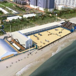 Mammoth task as Miami readies for oceanside showjumping