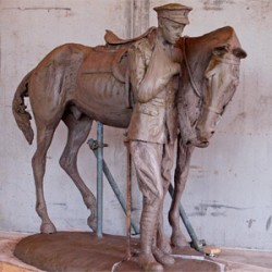 WW1 remount camp prepares for war horse statue