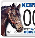 Seattle Slew graces new Kentucky license plate