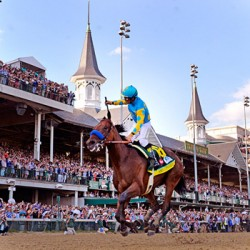 American Pharoah on Triple Crown trail after Preakness win