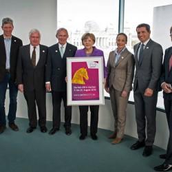 German Chancellor welcomes Aachen equestrian organisers