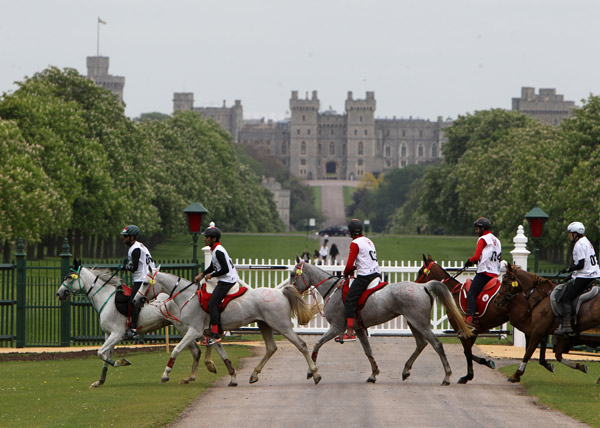 Three riders from Bahrain shared the honours at the third Royal Windsor Endurance 120km CEI2* competition. First, second and third places were awarded equally to Sheikh Nasser Bin Hamad Al Khalifa, Sheikh Mohammed Bin Murbarak Al Khalifa, and Raed Mahmood, when they recorded the same finish time of five hours 33 minutes and 11 seconds. In fourth position, with a time of 05:45:02 was David Yeoman of Great Britain and fifth was Enora Boulenger of France in 06:00:10.