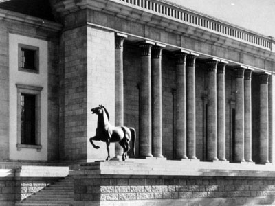 Horse bronzes that stood outside Hitler's Chancellery recovered in police raids