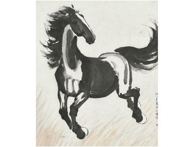 Famed artist's 'Galloping Horse' up for auction