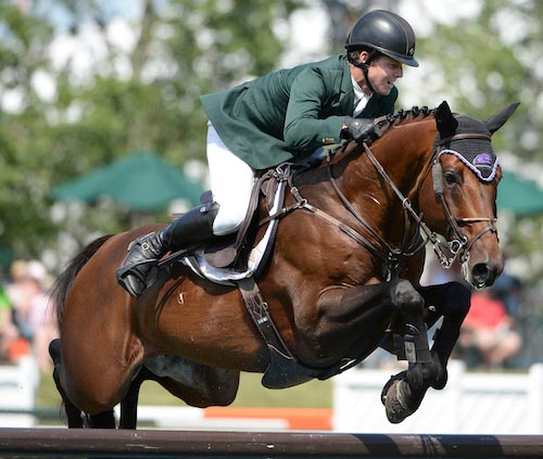 Shane Sweetnam and Chaqui Z was a close second in the $126,000 Imperial Challenge at Spruce Meadows.