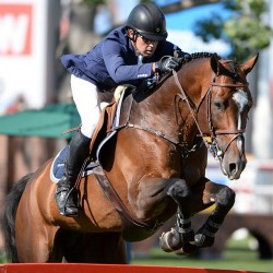Ireland's Swail in Spruce Meadows treble