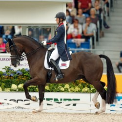 Gold again for Britain's Charlotte and her Blueberry