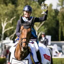 Chloe Winchester wins Hickstead's QEII Cup