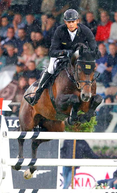 Marco Kutscher and Van Gogh jump to victory in the charged Longines Global Champions Tour Grand Prix of Valkenswaard on Saturday night.