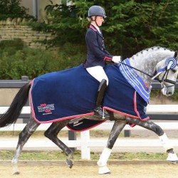 Charlotte's triple crown at British Dressage Champs