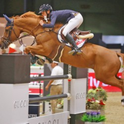 Ireland's Allen jumps to speedy win at Longines Masters of LA
