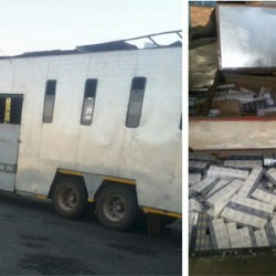 Horse shared trailer with big stash of illicit cigarettes