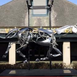 Artistry in motion: Mechanical horse sculpture installed