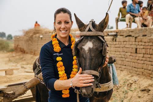 Charlotte Dujardin during her visit to India in October.