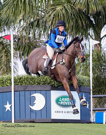 Wellington Eventing Showcase runners-up, Colleen Rutledge and Covert Rights.