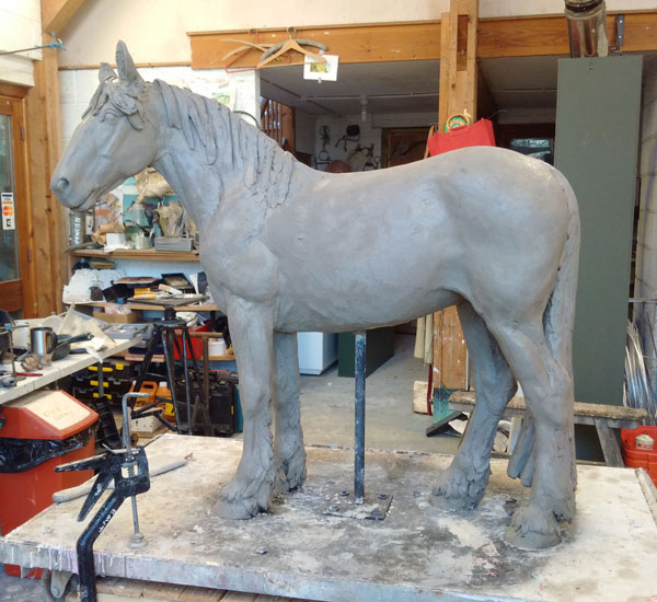 The completed clay maquette of World Horse Welfare May.